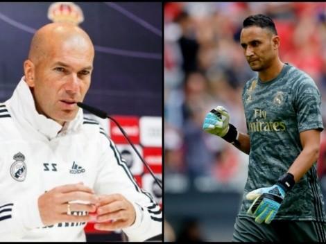 "Zidane asegura que Keylor se queda: ""Yo voy a contar con él"""