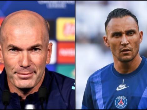 Zidane le hizo un guiño a Keylor en la previa del partido contra PSG