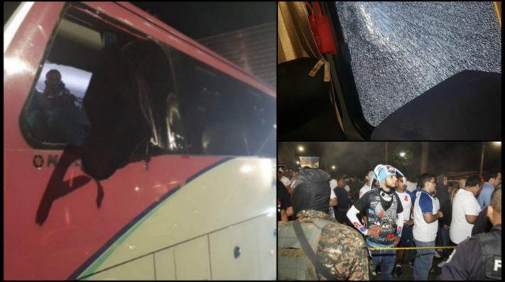 Atentan contra bus del Olimpia y se suspende juego ante el Alianza