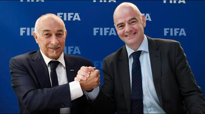 Philippe Piat y Gianni Infantino