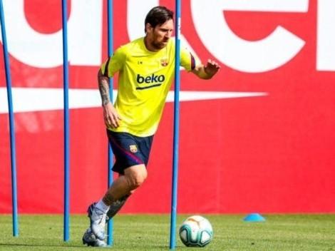 Con Lionel Messi a la cabeza, el Barcelona regresó a los entrenamientos