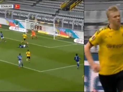 Y un día volvió el grito de gol: Erling Haaland puso el 1-0 para el Dortmund
