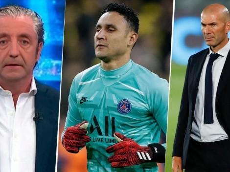 "Pedrerol critica a Zidane: ""Recordemos lo que pasó con Keylor"""