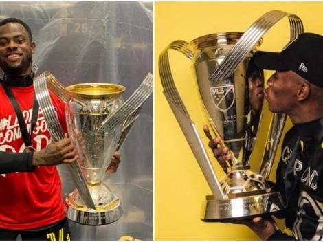 Los costarricenses Waylon Francis y Luis Díaz celebraron el título de la MLS
