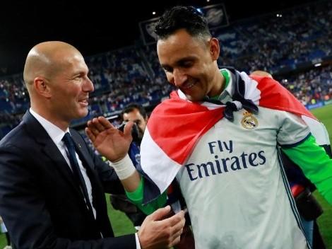 Zidane no quería que Keylor Navas se vaya del Real Madrid