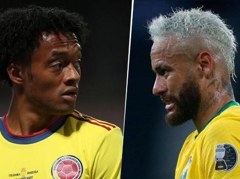 Brasil vs. Colombia: cuándo, dónde y por qué canal ver el partido por la cuarta fecha del Grupo B de la Copa América 2021 en Centroamérica