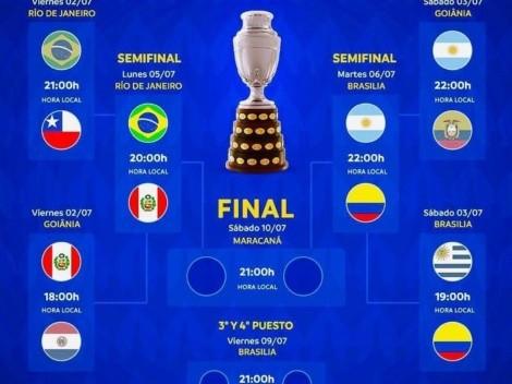 Como quedaron las semifinales de la Copa América