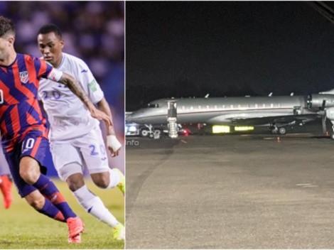 Pulisic se fue de Honduras en un avión lujoso