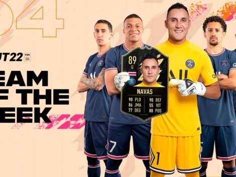 Keylor Navas aparece en equipo de la semana del FIFA 22
