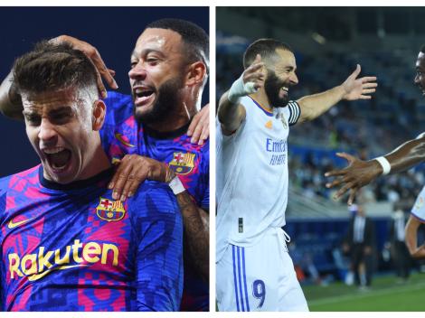 Barcelona vs. Real Madrid: las alineaciones confirmadas para el clásico